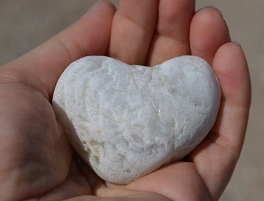 Rock shaped heart